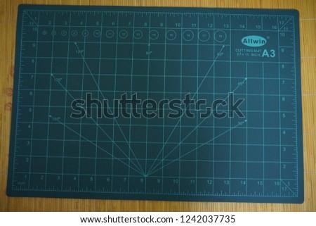 Ha Noi/ Viet Nam - Oct 25 2018: Cutting Mat size A3 #1242037735