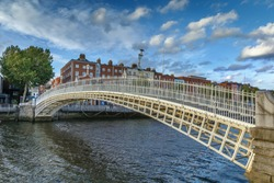 Ha'penny Bridge and officially the Liffey Bridge, is a pedestrian bridge built in May 1816 over the River Liffey in Dublin, Ireland
