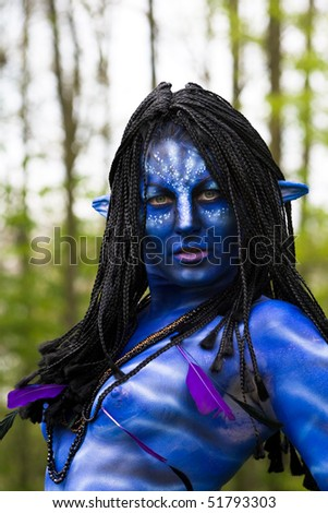 HAARZUILENS, THE NETHERLANDS - APRIL 25: Avatar at the Elf Fantasy Fair on April 25, 2010 in Haarzuilens, The Netherlands