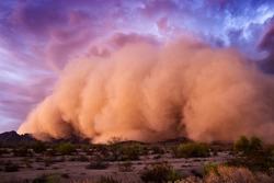 Haboob dust storm in the desert