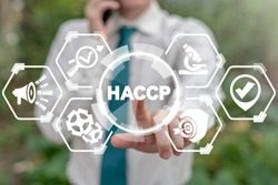 HACCP - Hazard Analysis and Critical Control Points. Standard and certification, quality control management rules for business and food industry.