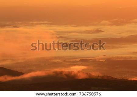 Hachimantai clouds #736750576