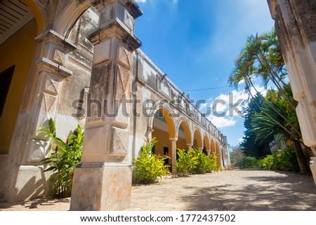 Hacienda Yaxcopoil is a town and hacienda located near Merida Mexico, in the Umán Municipality, Yucatán.