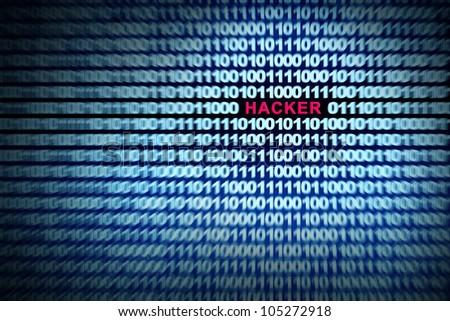 Hacker inside Binary code