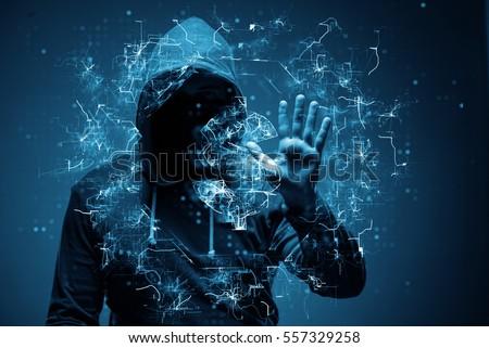 hacker stealing dollars from...