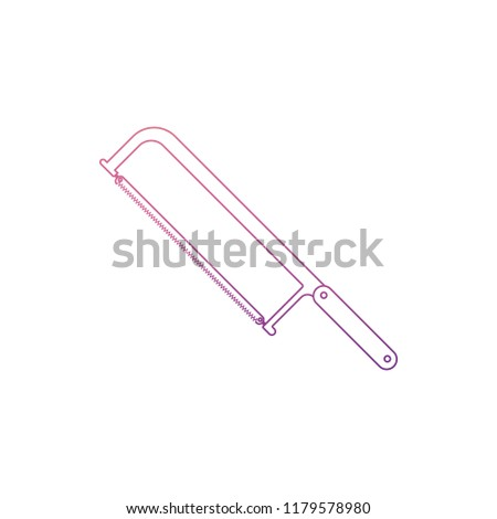 hacksaw icon in Nolan style. One of Home repair tool collection icon can be used for UI, UX on white background