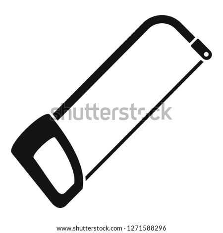 Hacksaw icon. Simple illustration of hacksaw icon for web design isolated on white background