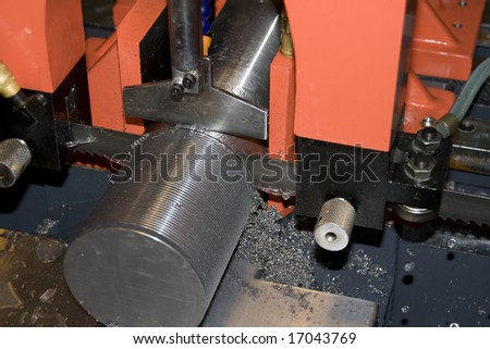 hacksaw machine tools in the work