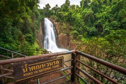 Haew Narok Waterfall Khao Yai National Park in Thailand.