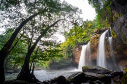 Haew Suwat Waterfall in Khao Yai National Park, Thailand.