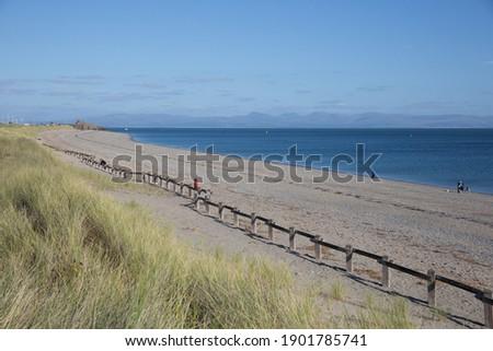 Hafan y Mor beach between Pwllheli and Criccieth north west Wales Zdjęcia stock ©