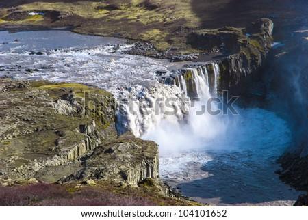 Hafragilsfoss, Waterfall in Iceland