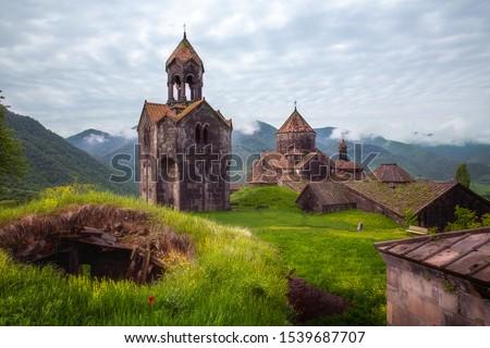 Haghpat Monastery, also known as Haghpatavank (Armenian: Հաղպատավանք), is a medieval monastery complex in Haghpat, Armenia ストックフォト ©