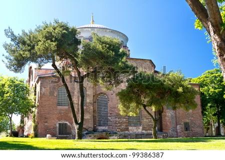 Hagia Irene church; First courtyard of the Topkapi Palace, Also called as Aya Irini in Turkish.