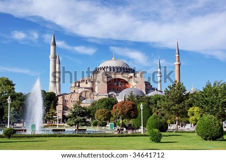 Hagia Sophia is the famous historical building of the Istanbul. Now it's a museum as a world wonder