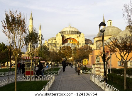 Hagia Sophia, Istanbul, Turkey, sundown