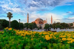 Hagia Sophia Mosque in Istanbul, Turkey. Hagia Sophia is the largest church built by the Eastern Roman Empire in Istanbul