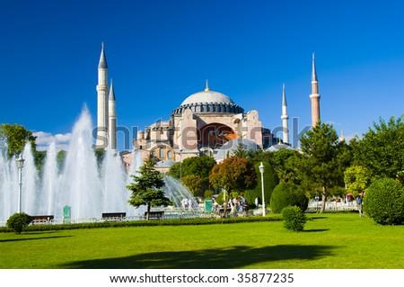 Hagia Sophia, Sultanahmet Park, Istanbul, Turkey