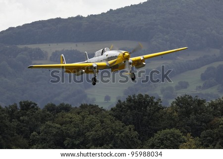 HAHNWEIDE, GERMANY-SEPT 4:Air show at the airfield Hahnweide on Sept 4, 2011, in Hahnweide, Germany - stock photo
