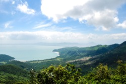 Hai Van Pass (Cloud Pass)between Danang and Hue in Vietnam