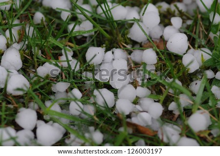 hail balls on the ground