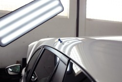 hail damage car, lights for detecting dents in a car body