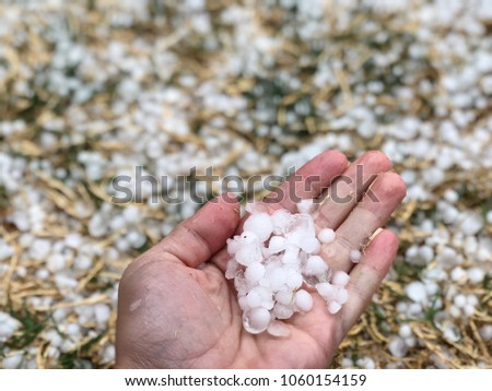Hail From A Thunderstorm