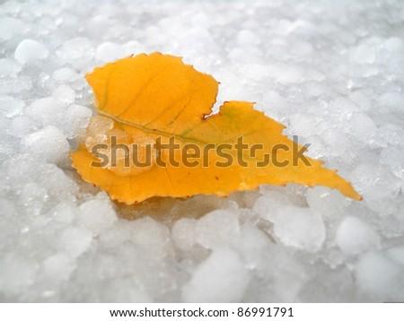 Hail in autumn