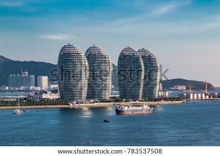 Hainan Sanya Bay urban architecture landscape Сток-фото ©