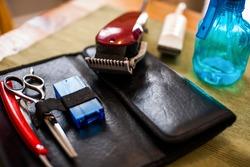 Hair care kit at a hair styling salon