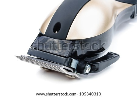 Hair Clippers. The photo on white background