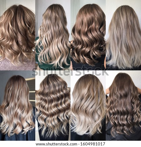 hair coloring many different options Photo stock ©