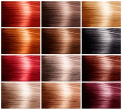 Hair Colors Set. Tints