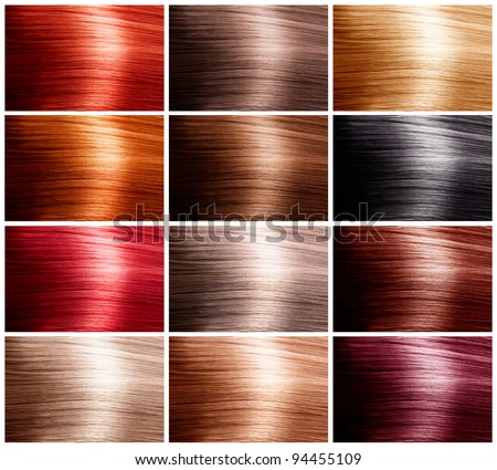 Hair Colors Set. Tints - stock photo