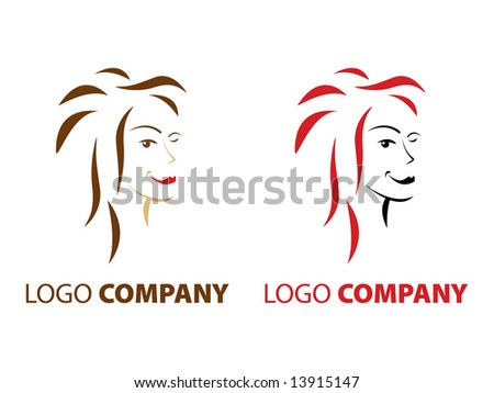 Hair And Beauty Logo. eauty salon company logo