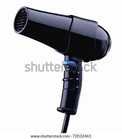 hair dryer isolated on white