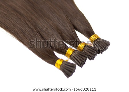 Hair extension with natural hair. Long hair for women.