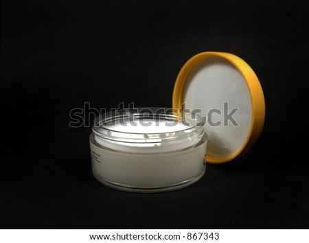 Black Hair Gel. Hair gel isolated on lack