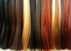 Hair palette. A variety of colors for dyeing.