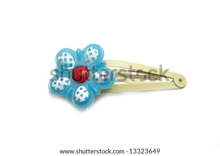hair-pin on the white isolated background