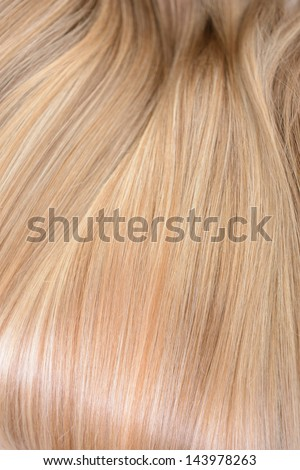 Hair. Texture of natural beautiful hair.