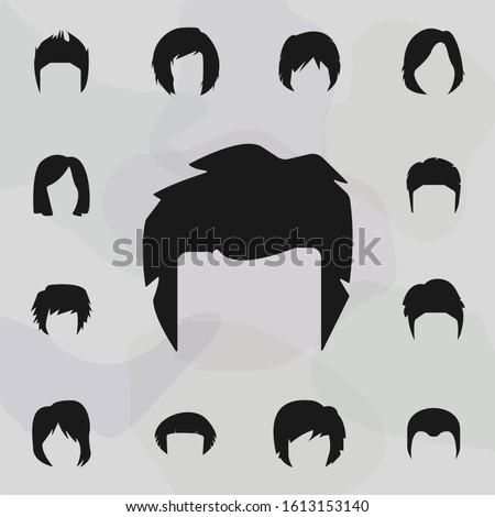 Hair, woman, haircut shag icon. Haircut icons universal set for web and mobile