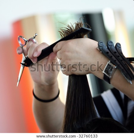 Haircut (4) - stock photo