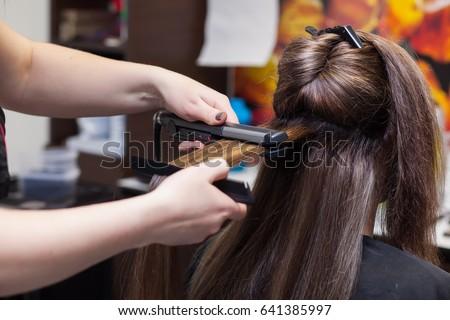 hairdresser hairstyle #641385997