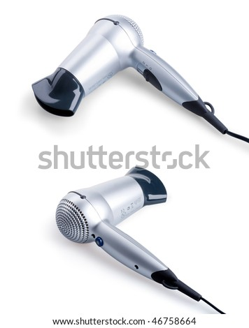 Hairdryer isolated on white background with clipping path