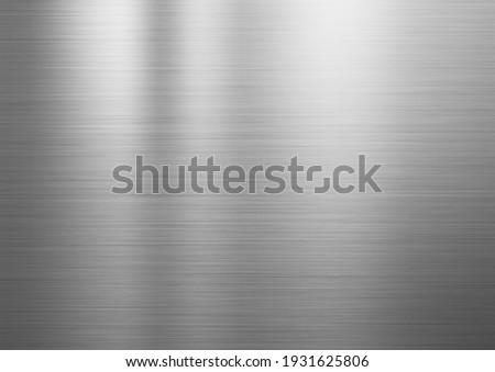 hairline finish stainless steel plate Foto stock ©
