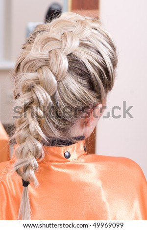 hairstyle braid. stock photo : hairstyle braid
