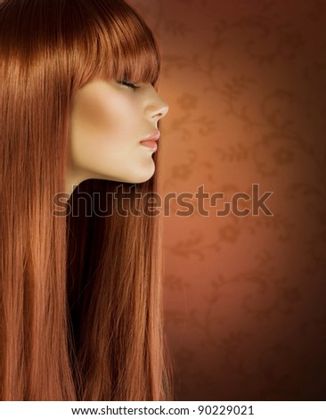 Hairstyle.Healthy Hair .Beautiful Girl portrait