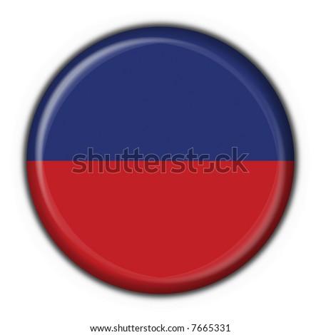 haiti button flag round shape