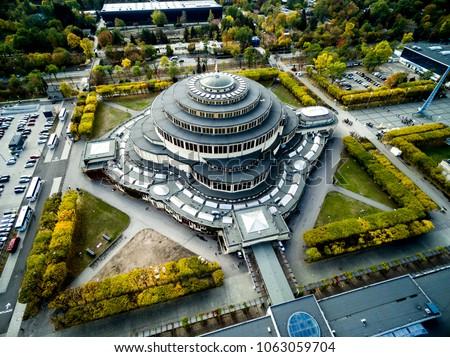 Hala Stulecia, 100lecia, widok z powietrza, Wroclaw from the sky Stok fotoğraf ©
